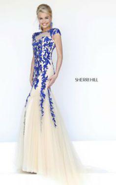 Nude Royal Sherri Hill 1927 Long Dress