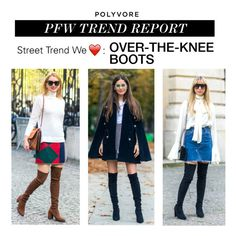 """""""PFW Trend Report: Over-the-Knee Boots"""" by polyvore-editorial ❤ liked on Polyvore featuring Oui, PFW and OverTheKneeBoots"""