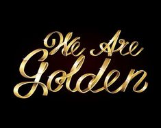 Stay Golden With This Shiny Metallic Text Art Effect in Adobe Illustrator by Mary Winkler, In this tutorial, you will draw your own script font (or work off an existing one) and render it into a completed shiny, golden design. Create dimension in. Photoshop Text Effects, Free Photoshop, Photoshop Filters, Adobe Illustrator Tutorials, Photoshop Illustrator, Ai Illustrator, Graphic Design Tools, Graphic Design Tutorials, Golden Design