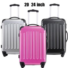 Cabin Hardside Luggage Suitcase ABS +PC Trolley Rolling Case 4 Wheels Light  #Fochier  Colorful suitcase,Colorful feeling! Best Travel Luggage, Luggage Suitcase, Hardside Luggage, Wheels, Abs, Colorful, Crunches, Abdominal Muscles, Killer Abs