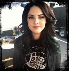 love love love the green with her black hair.