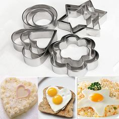Stainless Steel Cookie and Cake Mold 12 Piece Set