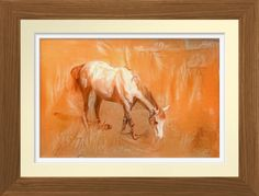 White Horse - Art Print. Original pastel drawing by Roger Smith. Reproduced on Archival Heavyweight Paper https://www.zazzle.com/white_horse_art_print-228820369773412848 #horse #art #print #RogerSmith