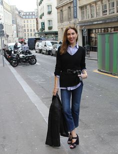 Emma Danielsson on the streets of Paris in the Knot Cuff.