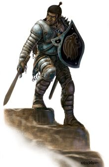 This stock art image by Eric Lofgren depicts a human fighter, perhaps of some knightly order, in plate armor and spoiling for a fight, in RGB colour. $10.  www.rpgnow.com/product_info.php?products_id=126452&affiliate_id=34429&src=Pinterest