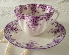 Shelley Dainty Purple Tea Cup & Saucer