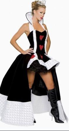 Sexy Enchanting Queen Of Hearts Fancy Costume