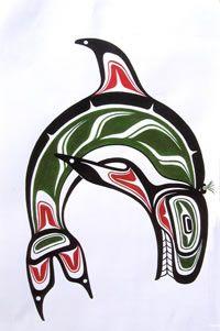 Jody Wilson Coast Salish Native Artist - Killer Whale