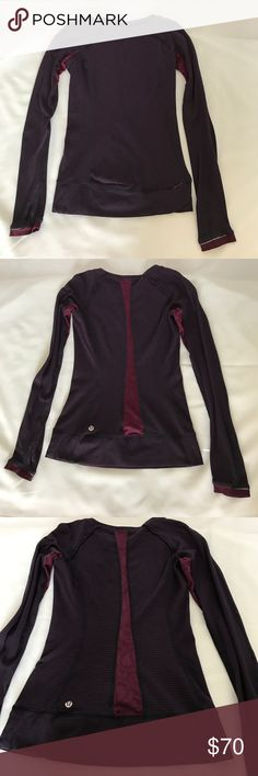 Lululemon Full Tilt LS Top Rare full tilt top! Hyper stripe plum...Great condition!! Worn about 3 times. Price is FIRM!! Would rather keep it! :) lululemon athletica Tops Tees - Long Sleeve