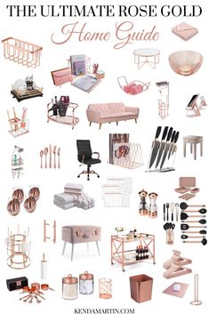 Do you love all things rose gold? Need help finding the perfect rose gold decor items or accessories to incorporate in your home? This post is for you! Room Decor Bedroom Rose Gold, Rose Gold Rooms, Rose Gold Decor, Gold Home Decor, Teenage Room Decor, Gold Home Accessories, Pink Bedroom Accessories, Amazon Home Decor, Cute Room Decor