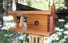 This urban minimalist birdhouse is design after Frank Lloyd Wrights Gordon house - Etsy - $195
