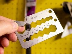 A handy helper in your back pocket. This credit card sized tool gets the job done.