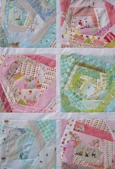 Scrappy Quilt Inspiration comfortsstitching;lovely happy paper piecing ; well foundation piecing anyway,