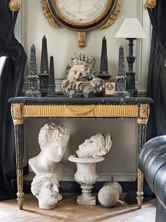 From The Decorista-Domestic Bliss: Decorating a console table...