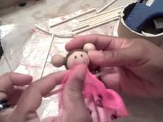 Learn how to make handmade  Clothespin Dolls