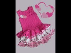 Vestidos fiusha tejidos a crochet para niñas