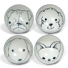 Puppy Rice Bowl Set Of 4