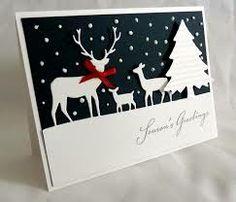 deer die cuts christmas card