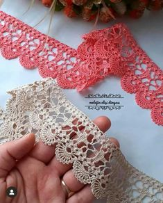 Crochet Boarders, Crochet Lace Edging, Crochet Bra, Thread Crochet, Filet Crochet, Crochet Doilies, Crochet Stitches, Crochet Placemat Patterns, Hand Embroidery Patterns Flowers
