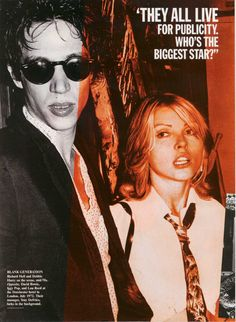 sanchopocho: Vanity Fair - November 2002  - Richard Hell and Debbie