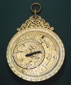 astrolabe, these were carried in ancient times to keep track of the night sky, the time of day, and to give guidance. It was like an ancient IPhone. Islamic World, Islamic Art, Art Ancien, To Infinity And Beyond, Middle East, Middle Ages, Oeuvre D'art, Medieval, Instruments