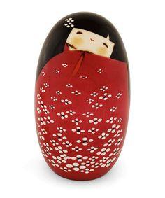 Look at this #zulilyfind! Red Kaiyo Kokeshi Doll #zulilyfinds