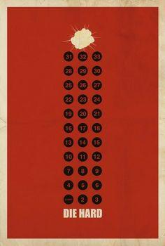Die Hard Minimalist Movie Posters