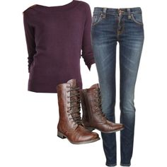 combat boots outfit by raindrop-97 on Polyvore my colors