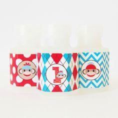 Sock Monkey Mini Bubbles Party Favors