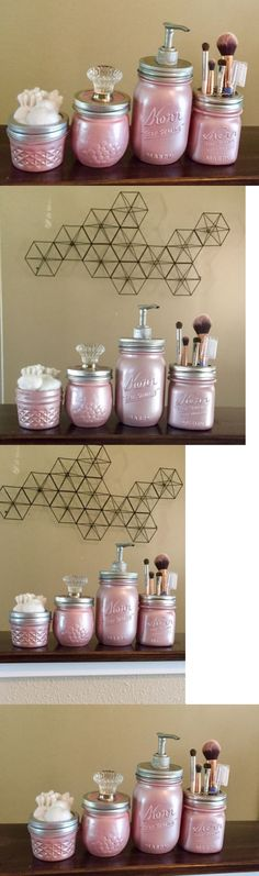Bathroom Canister Set Magnificent Bath Accessory Sets 176990 4 Piece Mason Jar Bathroom Canister Set Decorating Design