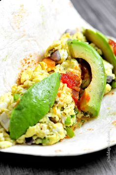 Egg and Avocado Breakfast Burrito - Cooking | Add a Pinch | Robyn Stone