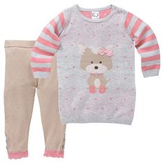 Girls' 2 Piece Jumper & Leggings Set - Puppy