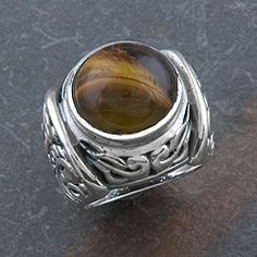 Sterling Silver Tiger's Eye Ring (Thailand)