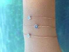 evil eye bracelet, pulsera ojo turco, para la protección del mal de ojo. delicada pulsera con ojo turvo.