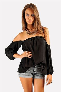 Perfection Off The Shoulder Top - Black