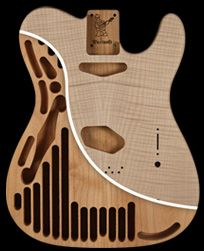 Warmoth Tele thinline honeycomb chambers