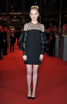 Emma Stone took the LBD to a whole new level with this kick-ass Gucci dress