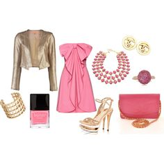 Pink & Gold Chanel, created by lissy-rose-erickson.polyvore.com