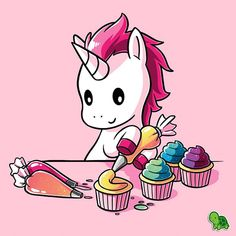 Hay is for horses, but cupcakes are for unicorns. Get the pink Rainbow Cupcakes t-shirt only at TeeTurtle! Unicorn Drawing, Unicorn Art, Rainbow Unicorn, Rainbow Dash, Unicorn Emoji, Unicorn Quotes, Cute Animal Drawings, Kawaii Drawings, Cute Drawings