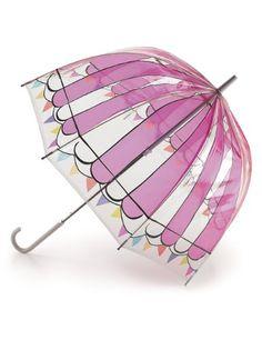 *NEW Lulu Guinness Fulton Ice Cream Birdcage Designer Umbrella*