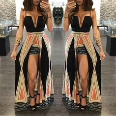Boutique Shorts and Maxi Romper in 1 Amaaaaaazing (can we say it again. Sexy Outfits, Sexy Dresses, Cute Dresses, Cool Outfits, Summer Outfits, Fashion Dresses, Slaying Outfits, Fashion 101, Cute Fashion