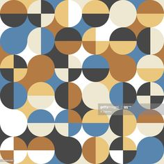 Modern Geometric Seamless Pattern Illustration #Ad, , #AD, #Geometric, #Modern, #Seamless, #Illustration Textile Fabrics, Textile Patterns, Joseph Muller, Design Inspiration, Design Ideas, Pattern Illustration, Small Homes, Geometric Patterns, Surface Pattern Design