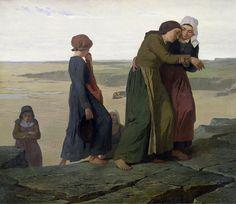 Évariste-Vital Luminais (1821-1869, France; symbolisme, réalisme) | La Veuve, ca. 1865  (Paris, Musée d'Orsay)