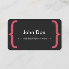 Web Developer Business Card with elements from different languages of Web Development Size: x Color: Signature UV Matte. Japanese Graphic Design, Vintage Graphic Design, Graphic Design Layouts, Graphic Design Posters, Brochure Design, Web Design, Ui Design Tutorial, Design Tutorials, Small Business Cards