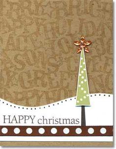 Hero Arts Cardmaking Idea: Happy Christmas Tree