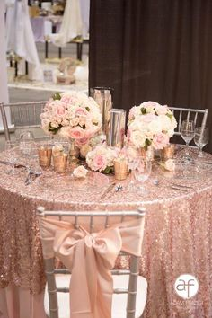 42 Glamorous Rose Gold Wedding Decor Ideas ❤ rose gold wedding decor chic table decor Adam Frazier A gorgeous explosion of glitzy and glamorous rose gold! Take a look at the rose gold wedding decor ideas in our gallery below and get inspired! Quince Decorations, Gold Wedding Decorations, Gold Wedding Theme, Rose Wedding, Dream Wedding, Wedding Bride, Diy Wedding, Wedding Trends, Wedding Ideas