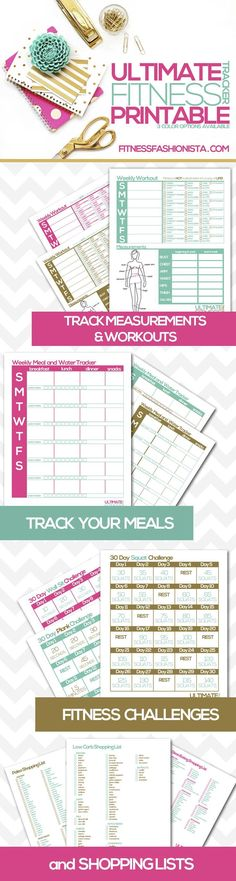 Getting organized is essential to any fitness routine. A weight loss planner hel… Getting organized is essential to any fitness routine. A weight loss planner helps. Check out the absolute BEST printable fitness and weight loss planners! Fitness Workouts, Sport Fitness, Fitness Tracker, Fitness Diet, Fun Workouts, Health Fitness, Goals Tracker, Monthly Workouts, Fitness Shirts