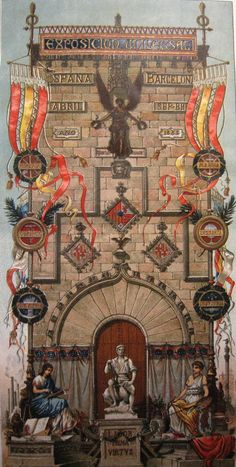 Cartel oficial de la Exposición Universal de Barcelona, 1888.