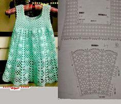 Crochet Toddler Dresses Easy Free Pattern your Purple Crochet Dress For Baby Girl, Crochet Baby Dresses Directions; Crochet Dress Girl, Crochet Girls, Crochet Baby Clothes, Crochet Blouse, Crochet For Kids, Crochet Dresses, Crochet Diagram, Crochet Chart, Knit Crochet