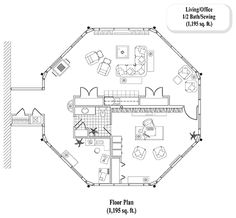 Online House Plan: 1195 sq. ft., 0 Bedrooms,  1/2 Baths, HOME ADDITIONS Collection (HA-0401) by Topsider Homes.